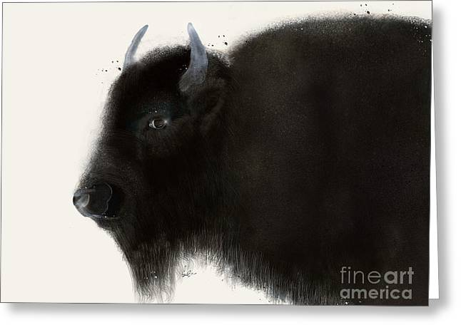 Greeting Card featuring the painting American Buffalo by Bri B