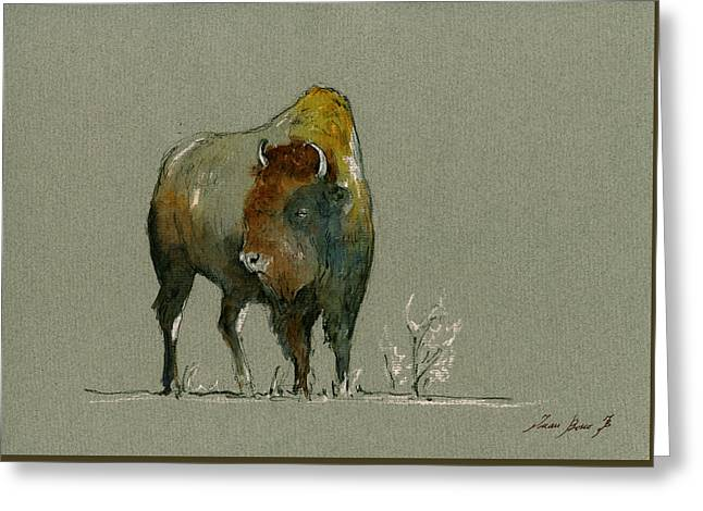 American Buffalo Greeting Card by Juan  Bosco