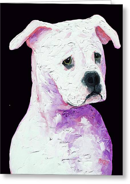 American Bully Greeting Card by Jan Matson