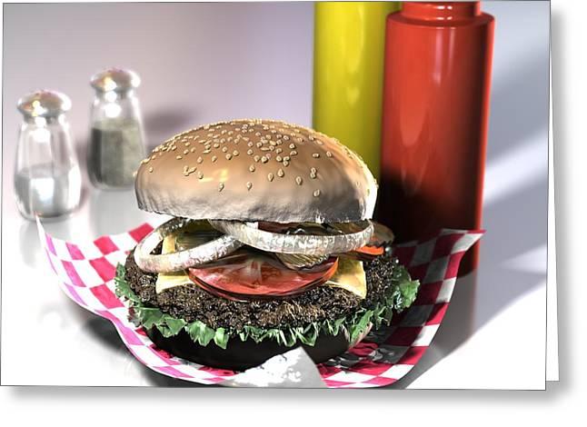 American Burger Greeting Card