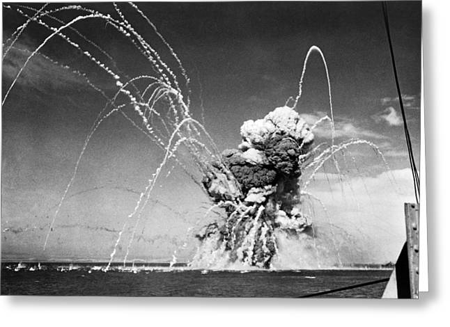 American Cargo Ship Explodes Greeting Card