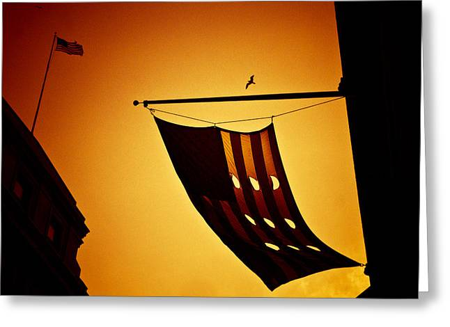 American City Sunset Greeting Card by Andrew Kubica