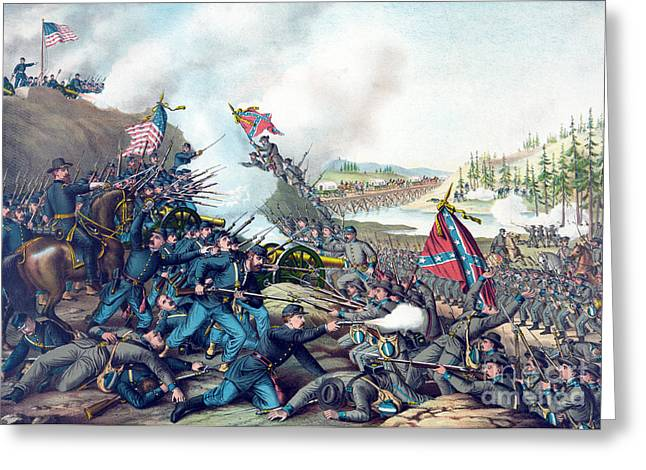 American Civil War, Battle Of Franklin Greeting Card by Science Source