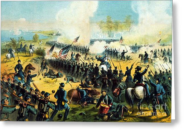 American Civil War, Battle Of Shiloh Greeting Card by Science Source