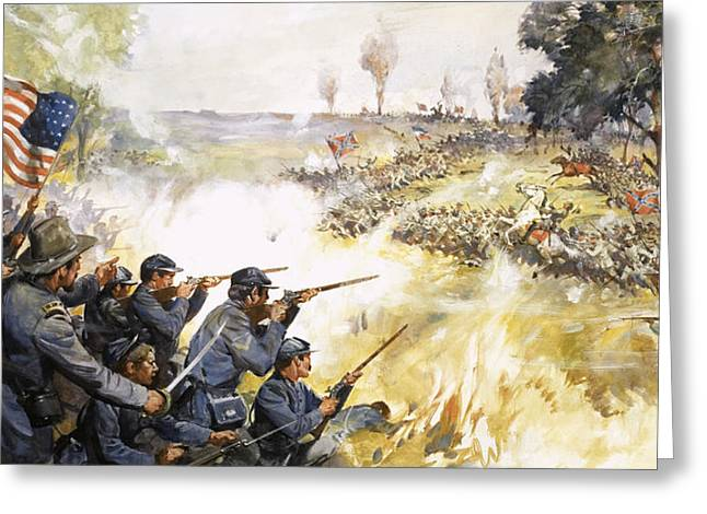 American Civil War Greeting Card by James Edwin McConnell