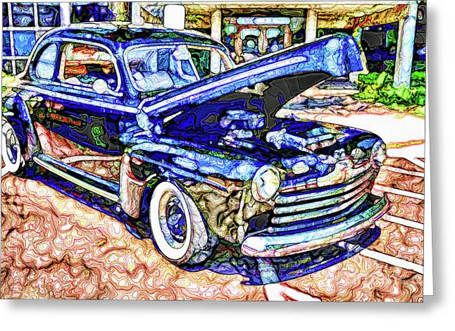 American Classic Car 8 Greeting Card by Lanjee Chee