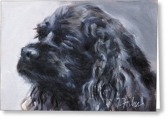 American Cocker Spaniel Greeting Card by Isabel Forbes