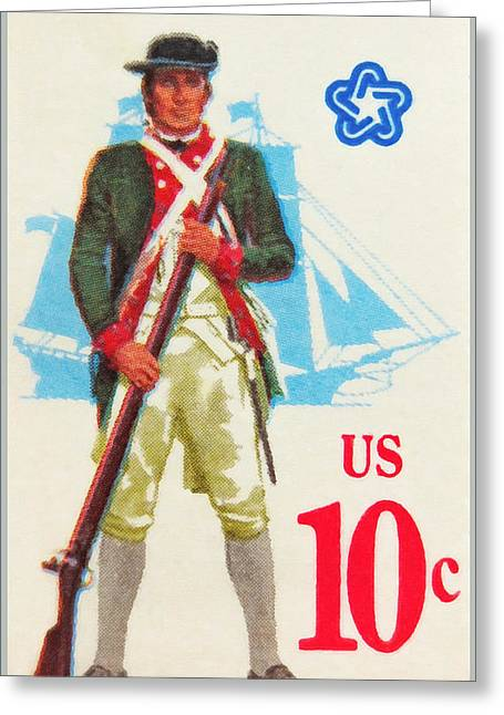 American Continental Marines Greeting Card by Lanjee Chee