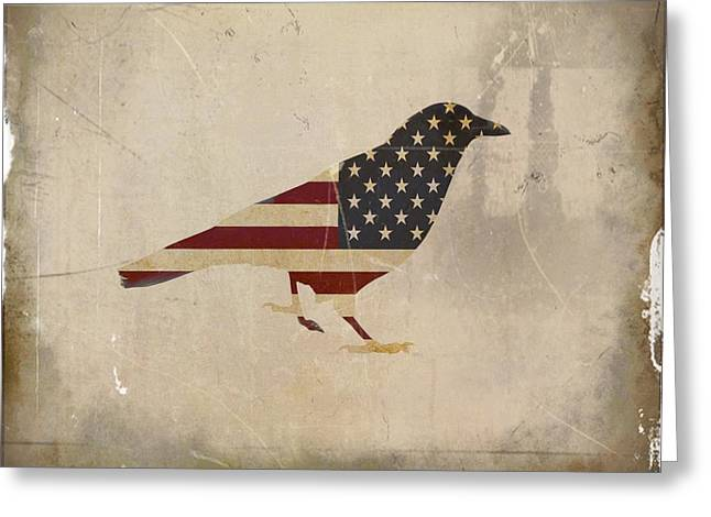 American Crow Greeting Card by Gothicrow Images