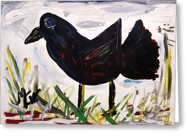 American Crow Greeting Card by Mary Carol Williams