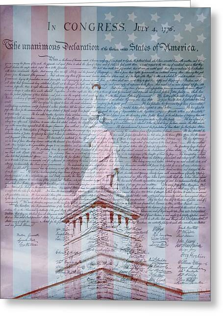 American Declaration Of Independence Greeting Card