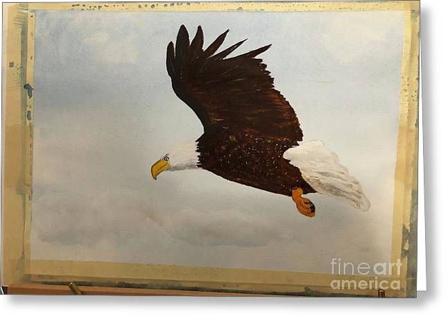 Greeting Card featuring the painting American Eagle by Donald Paczynski
