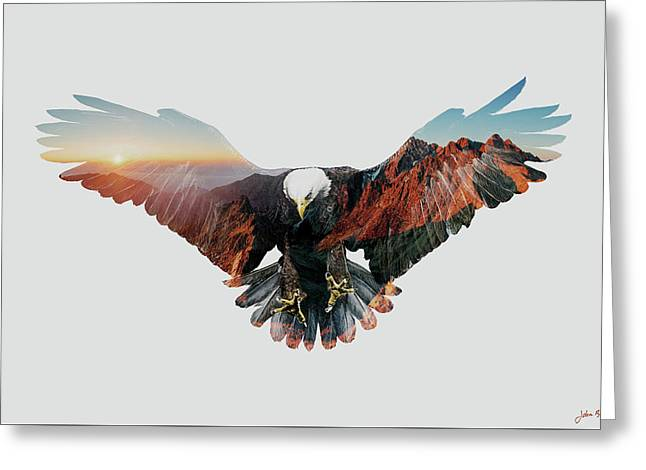 American Eagle Greeting Card by John Beckley