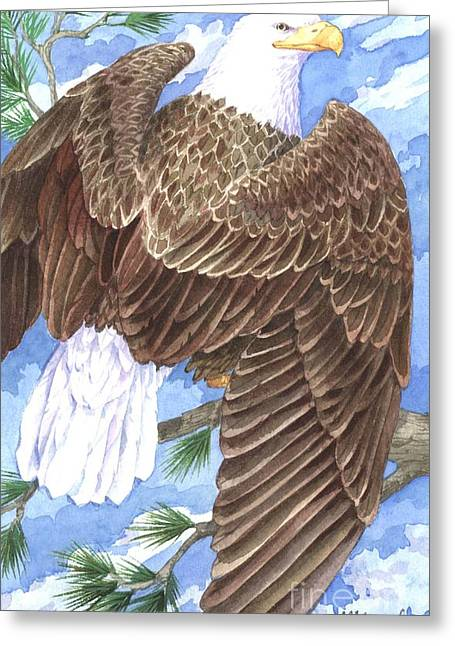 American Eagle Greeting Card by Paul Brent