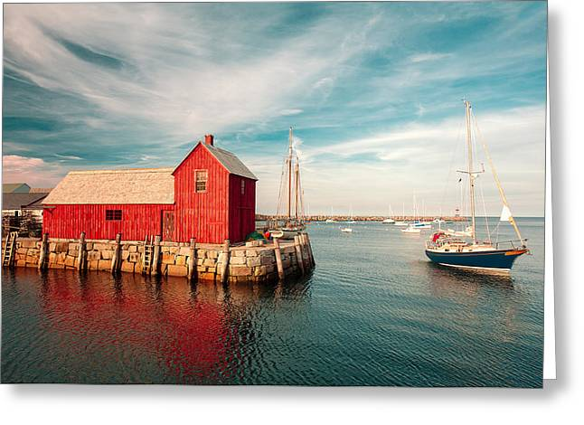 American Fishing Shack Greeting Card by Todd Klassy