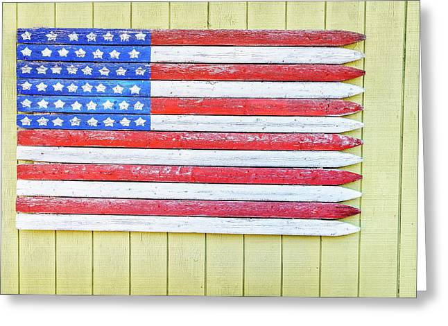 American Flag Greeting Card by Alexey Stiop