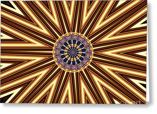 American Flag And Fireworks Kaleidoscope Abstract 1 Greeting Card by Rose Santuci-Sofranko