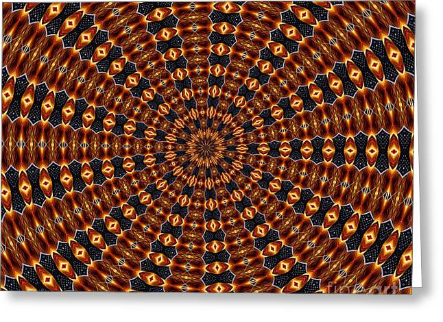American Flag And Fireworks Kaleidoscope Abstract 3 Greeting Card by Rose Santuci-Sofranko