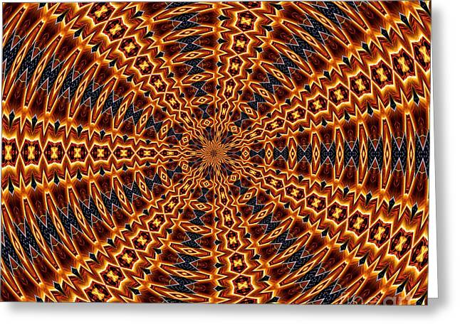 American Flag And Fireworks Kaleidoscope Abstract 5 Greeting Card by Rose Santuci-Sofranko