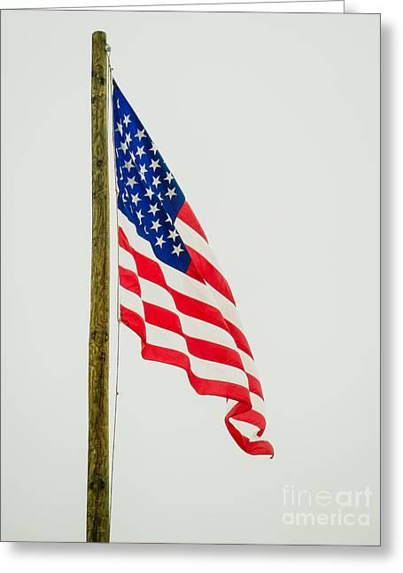 American Flag - B Greeting Card