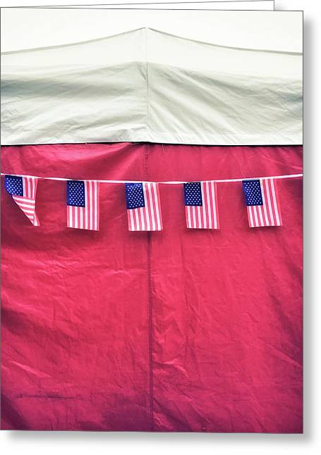 American Flag Bunting Greeting Card by Tom Gowanlock