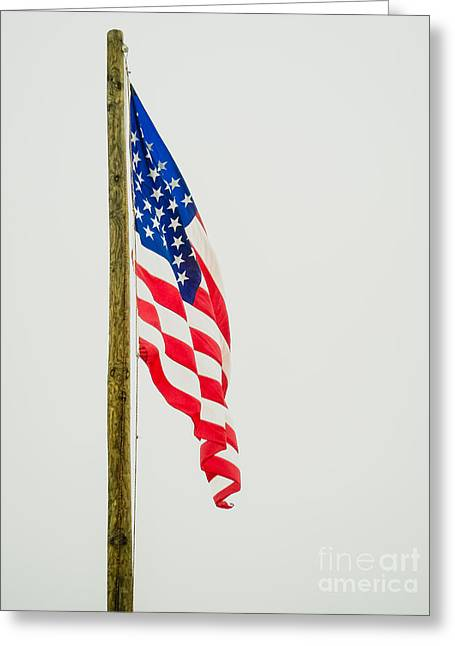 American Flag - C Greeting Card