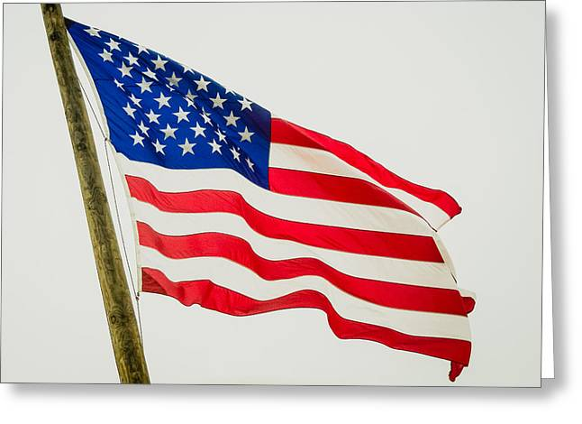 American Flag - Proudly It Waves Greeting Card
