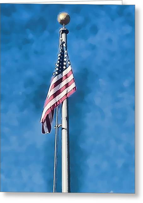 American Flag 'painted' Greeting Card