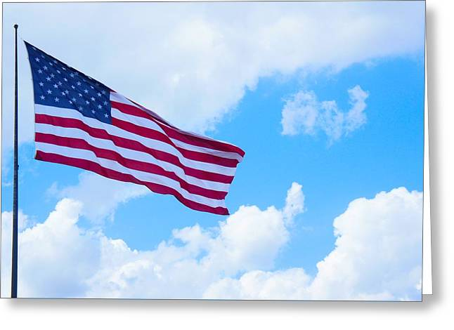 American Flag  Greeting Card by Art Spectrum