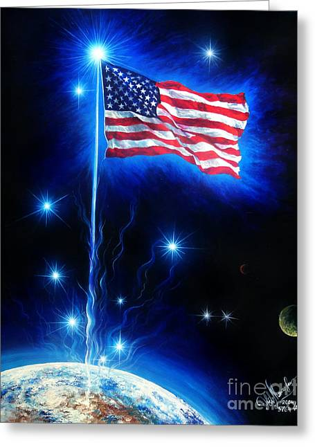 American Flag. The Star Spangled Banner Greeting Card by Sofia Metal Queen