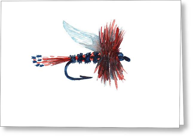 American Fly Greeting Card by Sean Seal