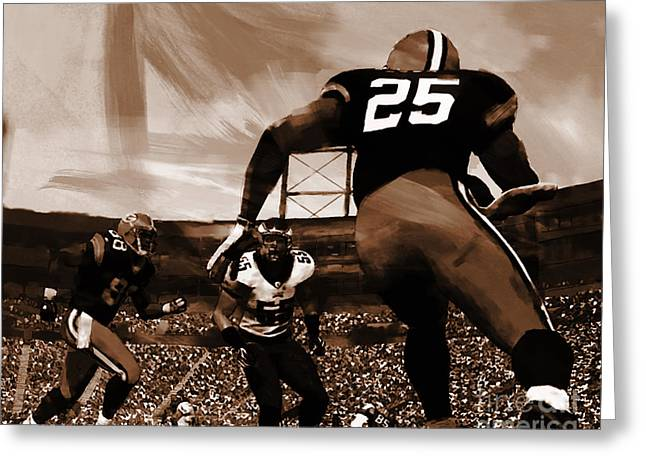American Football 01 Greeting Card by Gull G
