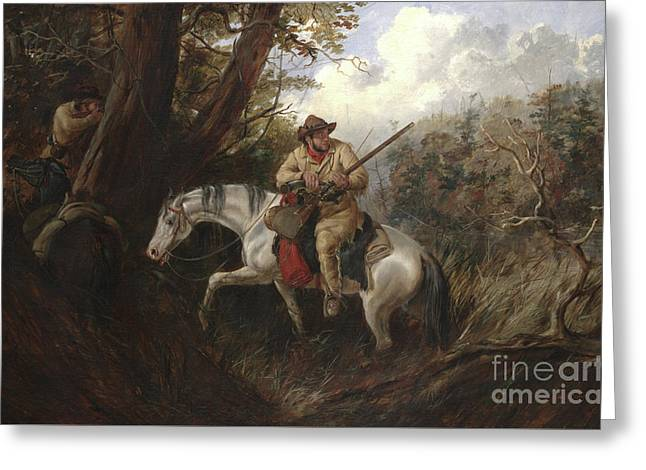 American Frontier Life Greeting Card by Arthur Fitzwilliam Tait