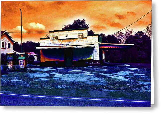 American Gas Greeting Card by David A Brown