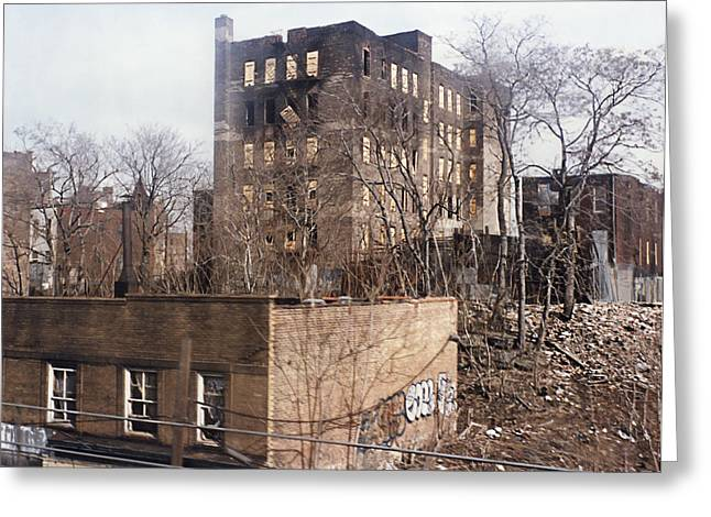 American Ghetto - The South Bronx In New York City Greeting Card by Daniel Hagerman