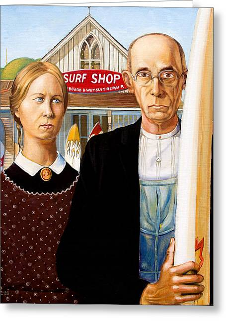 American Gothic - Amadeus Series Greeting Card by Dominique Amendola