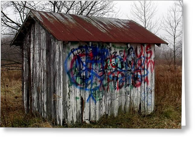 American Graffiti 4   Zig Zag Man Greeting Card by Ed Smith