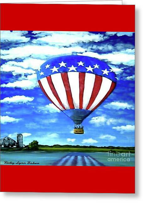 American High Greeting Card by Ricky Baker