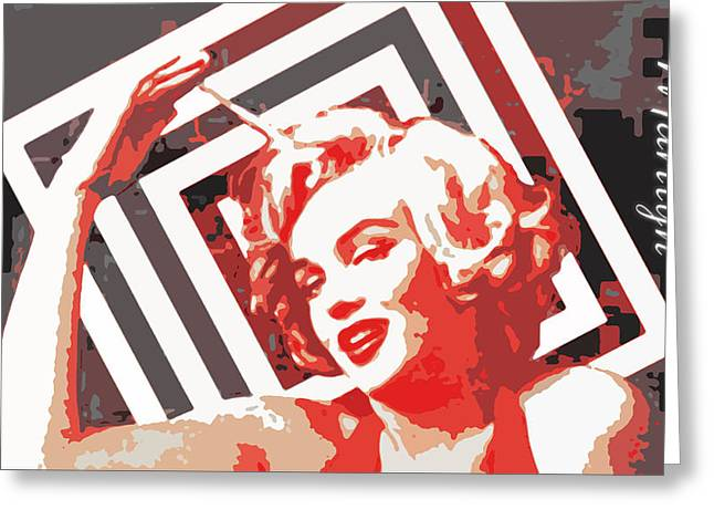 Norma Jean Baker Greeting Cards - American Icon # 1 Greeting Card by Lisa McKinney