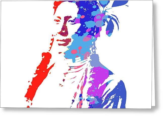American Indian Woman Greeting Card