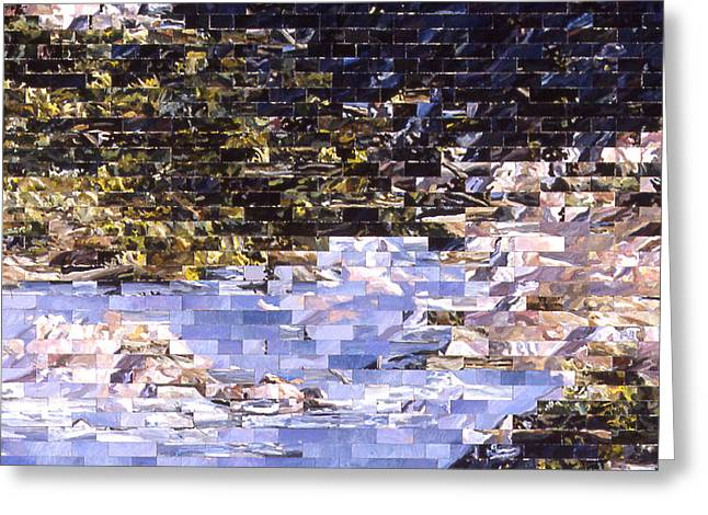 American Landscape After Meg Greeting Card by Karl Frey