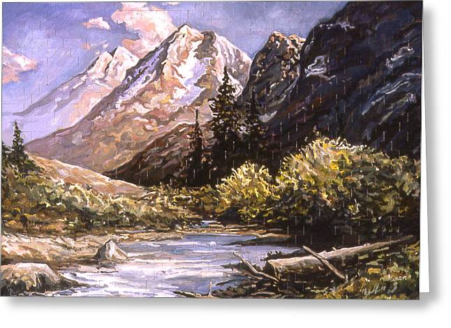 American Landscape Before Meg Greeting Card