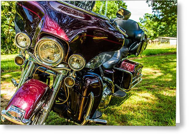 Greeting Card featuring the photograph American Legend - Motorcycle by Barry Jones