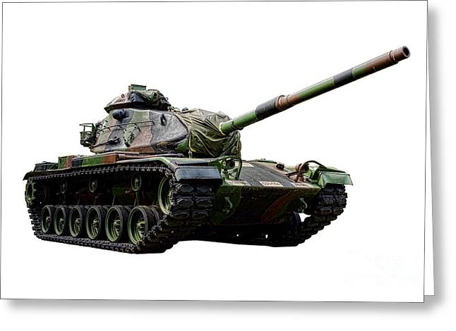 American M60 Patton Tank Greeting Card