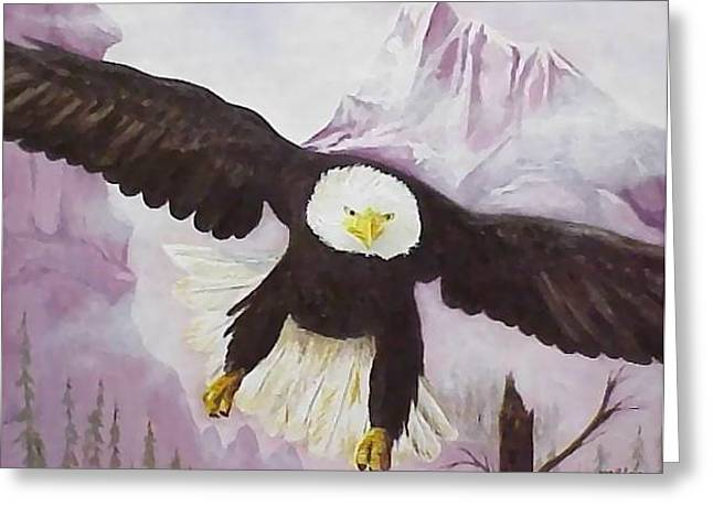 American Majesty Greeting Card by Merle Blair