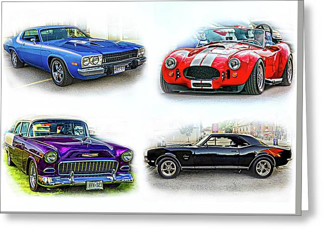 American Muscle Collage Greeting Card