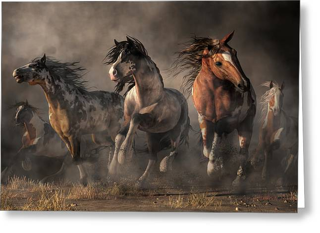American Paint Horses Greeting Card