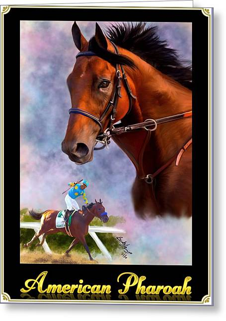 American Pharoah Framed Greeting Card by Becky Herrera