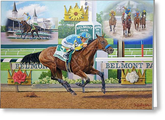 American Pharoah Greeting Card