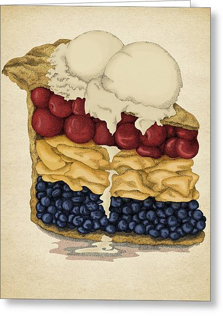 American Pie Greeting Card by Meg Shearer
